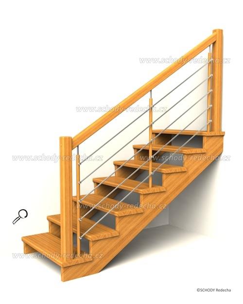 drevene schodiste schody IIA5