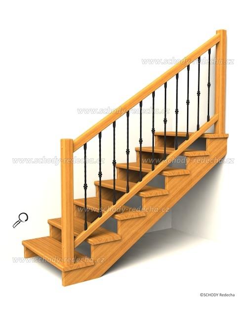 drevene schodiste schody IIsA3