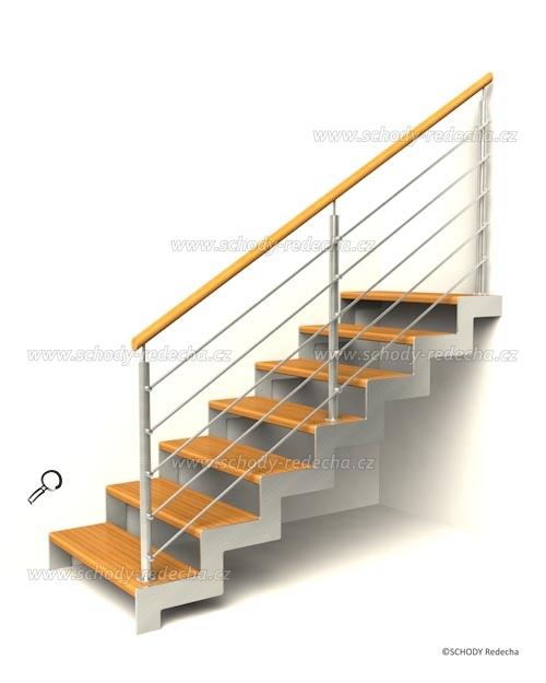 nerezove schody VD1