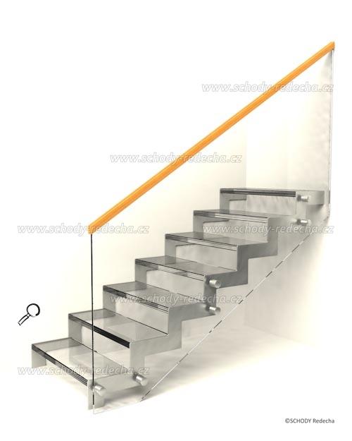 sklo schody VIIS